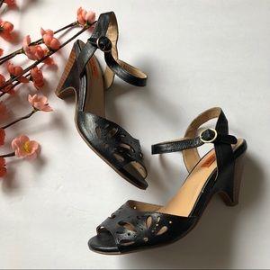 Miz mooz Willa size 7.5 black sling back heels